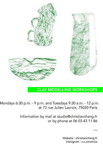 Flyer clay modelling workshops